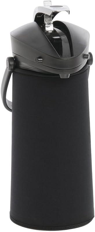 JavaSuits Airpot CoverThermal Coffee Dispenser Cover Black Neoprene For 2 2L 12 H