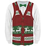 Old Glory Ugly Christmas Sweater Vest All Over Adult Long Sleeve T-Shirt - Small