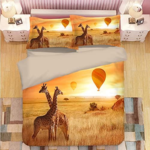 ysldtty 3D Panda Print Bedding Set Duvet Covers Pillowcases Comforter Bedclothes Bed Linen U-0999W 200CM x 200CM With 2 Pice Pillowcase 50CM x 75CM