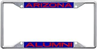Arizona Wildcats Alumni Premium License Plate Frame, Chrome with 4 Mount Holes