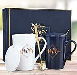 KEDRIAN Mr and Mrs Mugs, Couple Gifts, Weddings Gifts for the Couple, Mr and Mrs Gifts, Anniversary Gifts for Couple, Engagement Gifts For Newlyweds