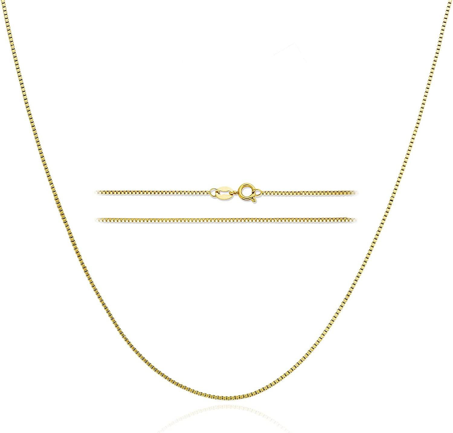 18k Gold Plated Box Chain: Stainless Max 88% OFF Dainty Link Free shipping / New Steel Thin Tren