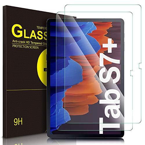 """ELTD Pellicola Protettiva per Samsung Galaxy Tab S7 Plus / S7+ (SM-T970/975/976), 9H, 2,5D Vetro Temperato Protezioni Pellicola per Samsung Galaxy Tab S7 Plus 12.4"""", (2-Pezzi)"""
