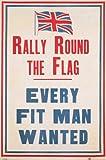 Retro - Rally Round The Flag Politik Poster Plakat Druck -