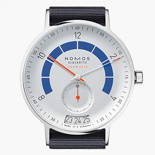 Nomos Glashuette Men's Autobahn 41mm Blue Cloth Band Automatic Watch 1303