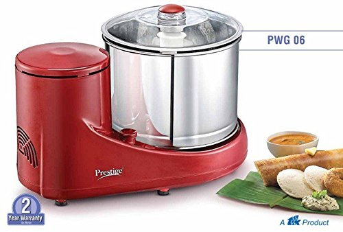 Prestige PWG06 200 Watt Wet Grinder (Red)