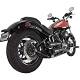 Vance & Hines 2 into 2 Hi Output Grenades Exhaust Black with Black End Caps 46846