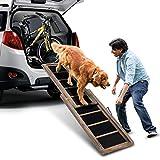COSTWAY Hunderampe Einstiegshilfe Hundetreppe Autorampe Ausziehbar