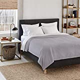 Eddie Bauer | Wi-Fi Collection | Heated Electric Smart Blanket, Alexa-Enabled, Ultra Plush, Queen, Gray