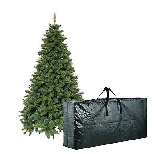 STI Borsa per Albero Natale Decorazioni Natalizie in PE Manici Cerniera 170x50x50cm