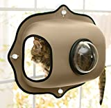"K&H Pet Products EZ Mount Window Bubble Pod Tan 27"" x 20"" Kitty Sill"