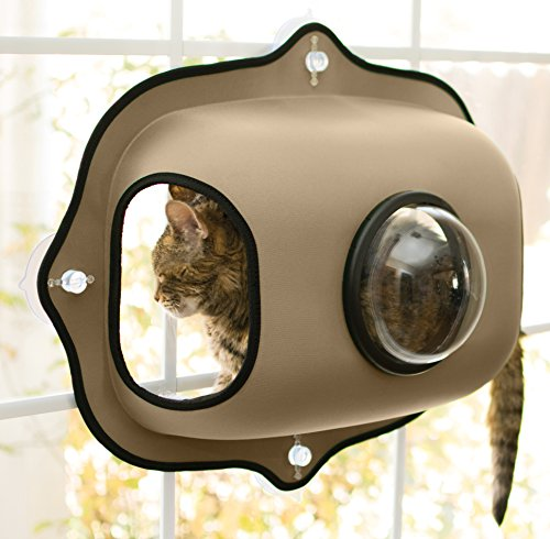 K&H Pet Products EZ Mount Window Bubble Pod Tan 27' x 20' Kitty Sill