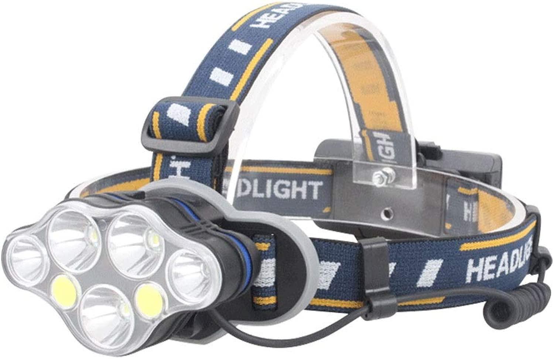 Stirnlampe 7  LED Scheinwerfer COB LED Wiederaufladbare Fernscheinwerfer Wasserdichte Scheinwerfer Geeignet für Outdoor-Abenteuer Reiten Laufen Camping Ausrüstung Bergmann Lampe Scheinwerfer Taschenl