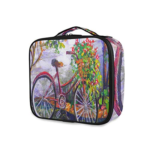 Gereedschap cosmetica trein case draagbare mode opslag toilettas tuin fiets bloemen zomer reizen make-up tas