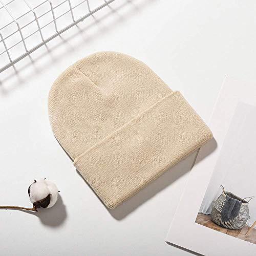 posterguo Mütze Normallack-warme Winter-Hüte für Frauen-Mann-Baumwollstrickmütze der Frauen weibliche Skullies-Mütze B