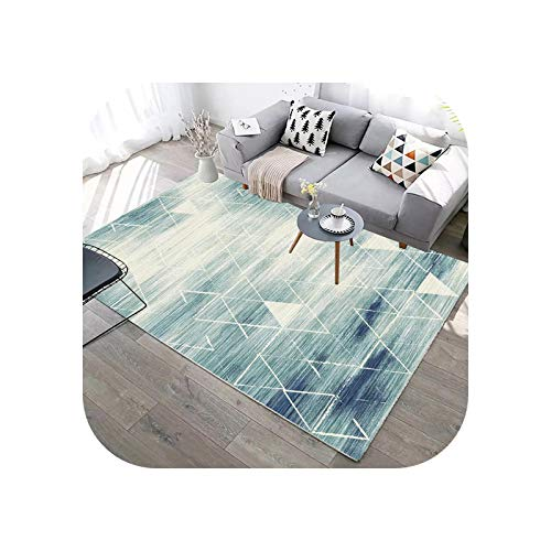 Room Rug | Abstract Geometric Lines Green Carpet for Living Room Sofa Coffee Table Marble Print Rug Blue Washable Floor Mat Room Decor-09-800x1200mm