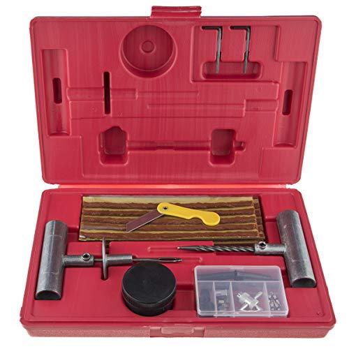 Stix Reifen Reparaturset Pannenset Flickzeug für Motorrad PKW LKW Reparaturstreifen Reifenreparatursatz im Koffer