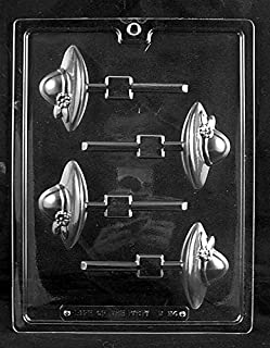 Grandmama's Goodies D094 Ladies Society Hat Lollipop Chocolate Candy Soap Mold with Exclusive Molding Instructions