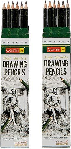 Camlin Kokuyo Drawing Pencil - Pack of 6 | Set of 2 Pack