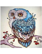 Gooder 5D Diamond Painting DIY Cross-Stitch Arts Craft Full Drill Night Owl Diamond Painting Kits for Kids Adults Home Office Wall Decor (40 x 30 CM)