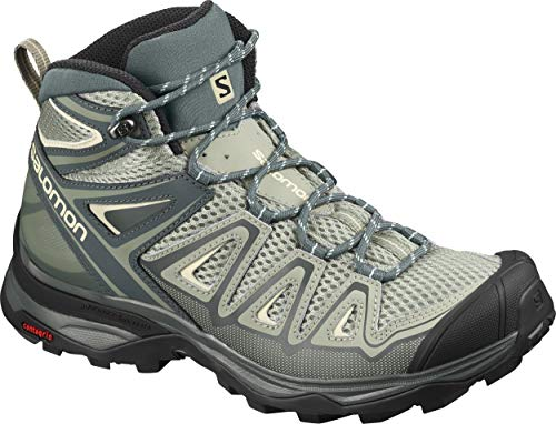 Salomon Women's Hiking Shoe, shadow/urban chic/Bleached Sand,9 B (M)