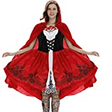 Goddessvan 2019 Women's Clothing Sexy Cloak Dress Suit Cosplay Halloween Clothes Festival Little Red Hood Costume