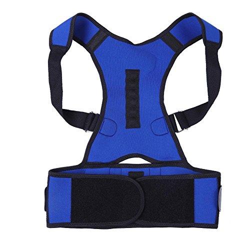 Haltungstrainer, Haltungskorrekturgürtel, Haltungskorrektur-Gürtel Rückentrainer Adjustably Posture Corrector Support Brace for Male Adults & Adolescents Intelligenter Vibrationssensor (M)