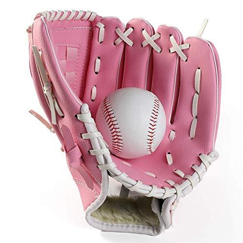 WOPOO Baseball Glove, Ball Softball Gloves for Children Adult Optimum Extreme Baseball Glove Sports Batting Gloves,Brown,M