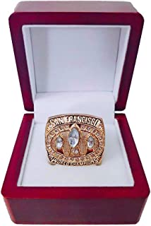 Gloral HIF San Francisco 49ers Championship Ring Super Bowl XXIII 1988 Ring sz 11 Jerry Rice Replica Rings with Display Wooden Box