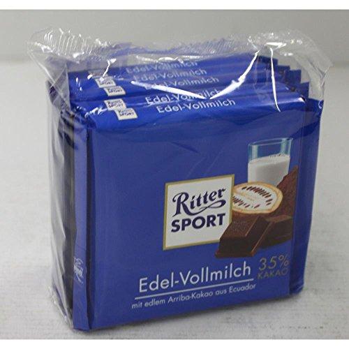 Ritter Sport Edel-Vollmilch 35% Kakao - Schokolade 5x100g
