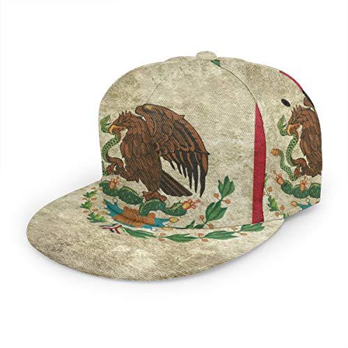 Zhgrong Bandera de México Retro Gorra de béisbol clásica con Estampado 3D Sombrero de papá 100% algodón Tamaño Ajustable Suave