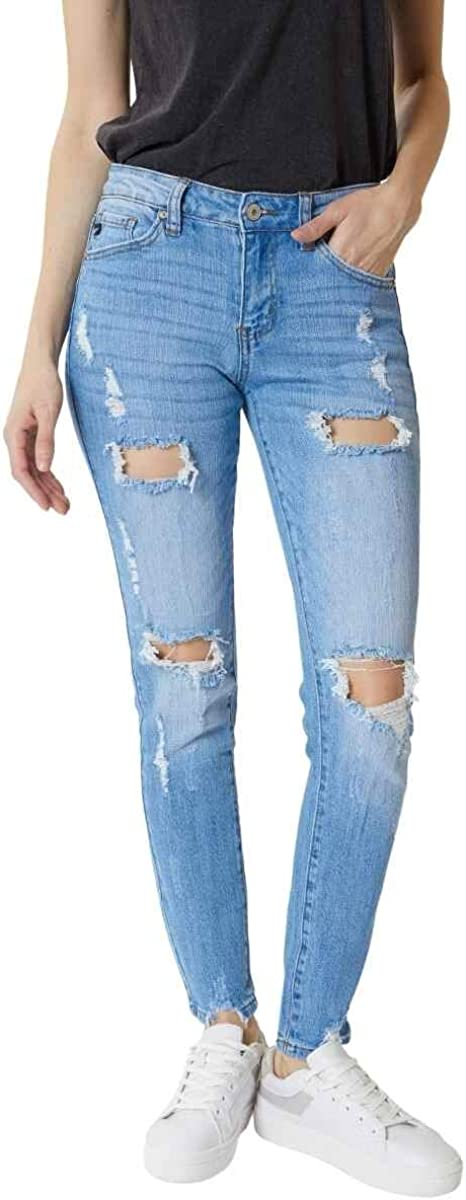 Kan Can Women's Mid Rise Super San Diego Mall Challenge the lowest price of Japan ☆ - KC505 Jeans Skinny Distressed