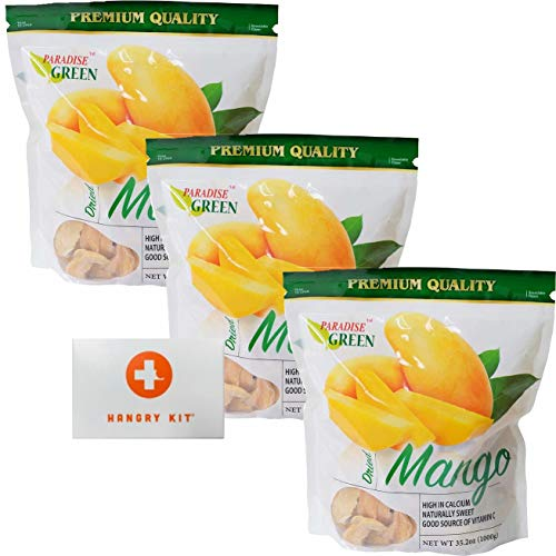 Paradise Green Dried Mango With Mini Hangry Kit || Bomber Bundle || (3 Bags)