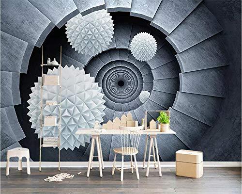 Mural 3D escalera de caracol de bola estéreo HD nuevo fondo de pantalla Arte Sala de estar dormitorio Tratamientos de pared Decoración del hogar Tv Photo Wall Paper 430x300cm