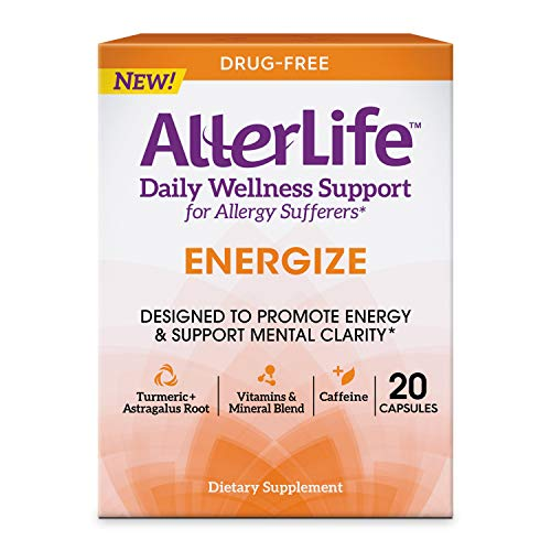 AllerLife Energize Capsules, Daily Dietary Supplements & Energy Support, 20-Count