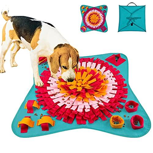 Snuffle Mat Para Perros,Alfombra Olfativa Para Perros, Alfombrilla para Snuffle para Perros,Alimentación de Mascotas Juguetes Interactivos para Perros