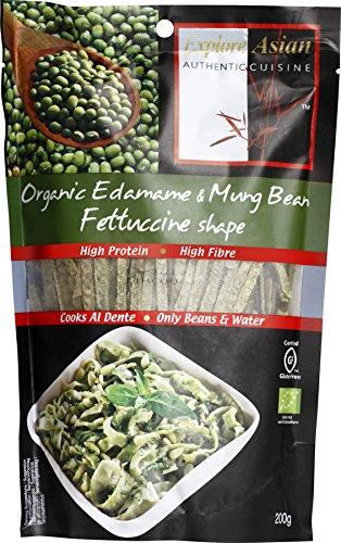 Explore Asian Authentic Cu Bio Fettuccine aus Edamame- und Mungbohnen (12 x 200 gr)