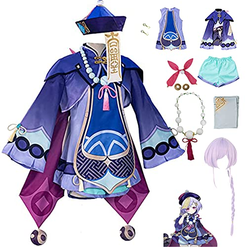 Genshin Impact Qiqi Costume Cosplay Costume femminile Cute Carattere Anime Vestito Loli Gonna Lolita Dress Game Qiqi Costume di Carnevale di Halloween XL