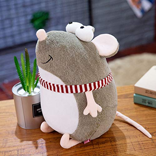 AYQX Kawaii Mouse Mascot Pillow Plush Stuffed Dolls Juguetes de Animales para niños Decoración de habitación de niña Regalos de año Nuevo Presente de la Empresa 45cm 1