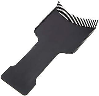 Frcolor ヘアダイブラシ ヘアダイコーム ヘアカラー 毛染め ヘアスタイリング 家庭用 美容師プロ用 プラスチック製 2個セット(ブラック)