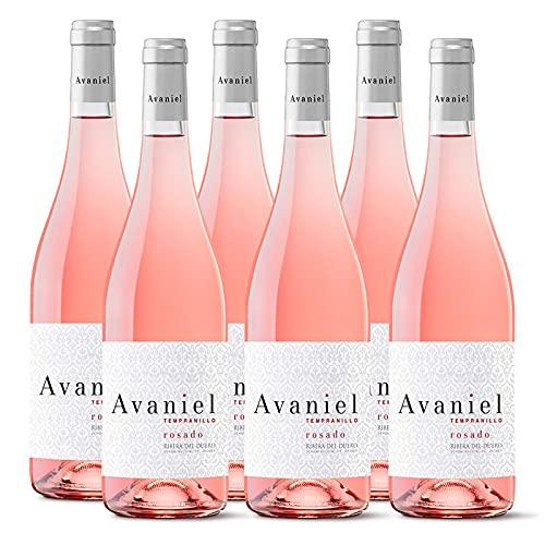 Vino Rosado Avaniel de 75 cl - D.O. Ribera del Duero - Bodegas Monteabellon (Pack de 6 botellas)