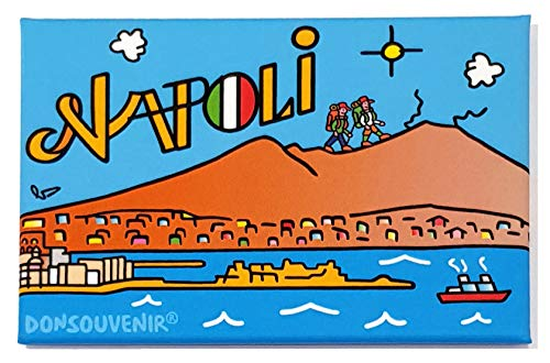 DONSOUVENIR Napoli CALAMITA da FRIGO. Modello: Baia di Napoli