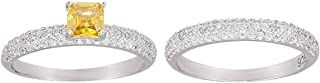 Ak Silver Women's Valentines Double Ring - 8 US