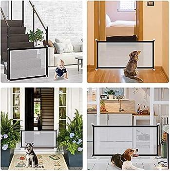 Barrière pour chien - 72 x 110 cm - Portable - Magic Gate - Pliable - Pour animaux de compagnie - Pour chiens et chats