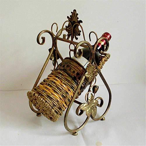 HJXSXHZ366 Estantería de Vino Vintage Wine Rack botellero de Metal Elegante Hierro Talle vacío, Estante de Vino pequeño (Color : Antiquecolorb)