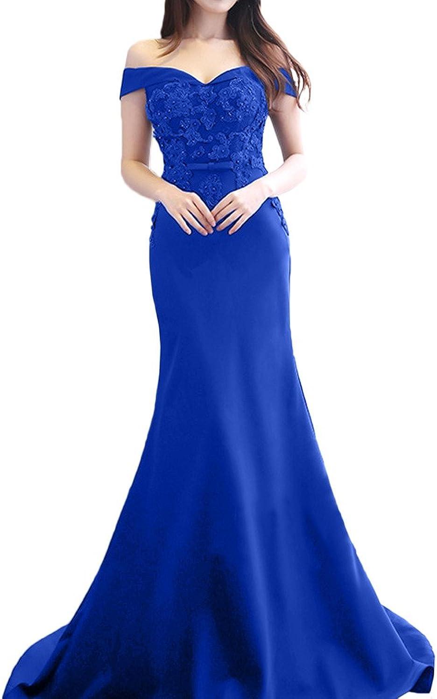 Avril Dress Glamgoldus off the Shoulder Evening Mermaid Party Dress Applique Lace