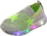 Unisex Bebé Niños Niñas Pentagrama Calcetería Zapatos Brillantes para niños Malla de Tejido Luminoso Zapatos Casuales Zapatos de bebé Zapatillas de Deporte Ligeras para Exteriores-Verde_28,5 UE per