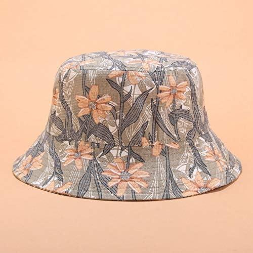 H/A The New Flower hat Female Japanese 3D Printing Flowerpot hat Summer Outdoor Sun Visor hat Topped Wild Tom-V (Color : Khaki, Size : Medium)