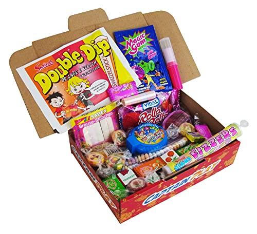 CAPTAIN PLAY   Retro Süßigkeiten Box   10 verschiedene Nostalgie-Süßigkeiten aus unserer Kindheit