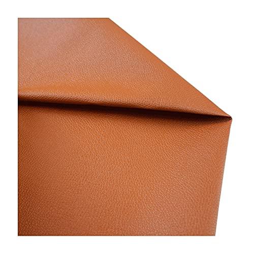 ZHJBD Cuero de Imitación Paño de Cuero Material de Textura Tela de Tapicería para Sentarse, Sofás, Hacer Arcos de Aretes de Cuero y Manualidades Vendido por Metros (Ancho 138 cm)
